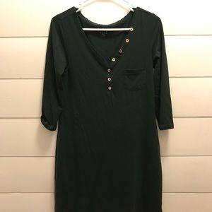 Lilly Pulitzer dark green knot dress.  Sm